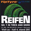 Tiptyre.cz - Internetový obchod s pneu, kvalitní pneumatiky, zahraničné protektory>Navštivte nás na výstavě v Essenu.